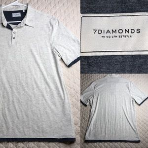 7 Diamonds polo style short sleeved men's shirt
